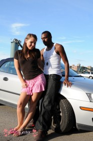 naughty tranny Ashley George with a black guy
